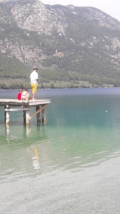 pêche sur le port d'Akbuk en Turquie près de Dalyan