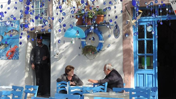 restaurant grec sur cunda près d'ayvalik en turquie