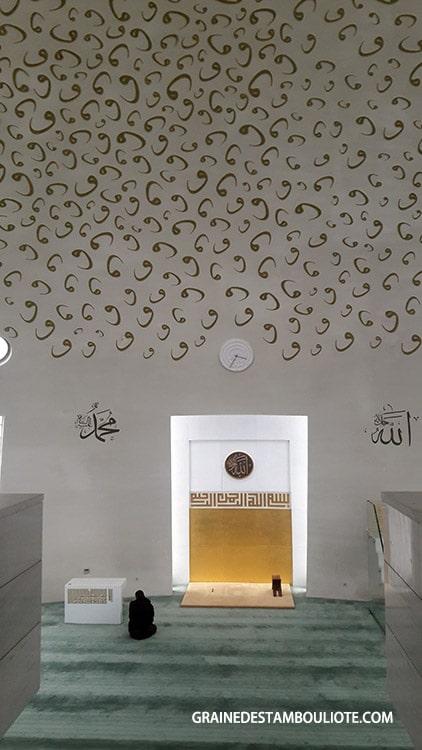 intérieur de la mosquée yesilvadi moderne istanbul asie Turquie