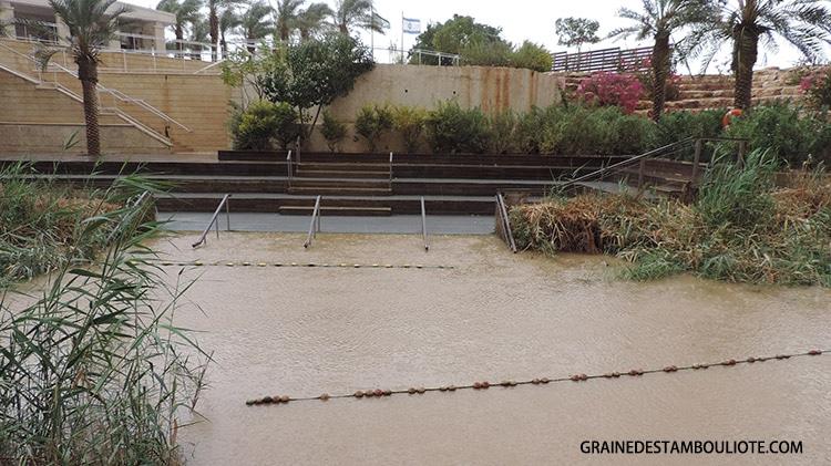 site du baptême à Béthanie sur le Jourdain à la frontière entre Jordanie et Israël
