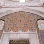 intérieur de la mosquee aux trois balcons à edirne en turquie