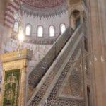 minbar de la mosquee selimiye de selim deux a edirne en turquie