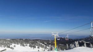 Panorama depuis station ski Uludag sur Bursa et la Mer de Marmara Turquie
