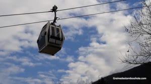 téléphérique de Bursa pour Uludag la station de ski préférée des habitants d'Istanbul en Turquie