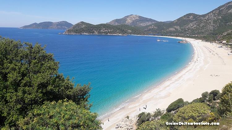 plage Oludeniz en Turquie près de Fethiye