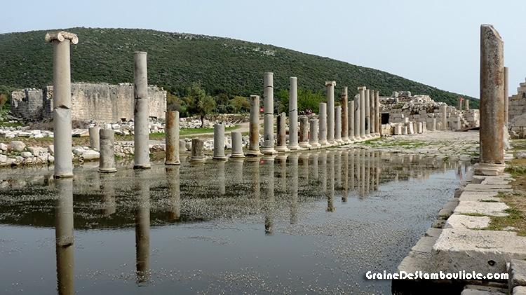 site antique lycien de Patara en Turquie
