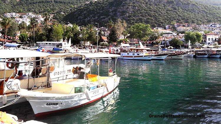 port de Kas, sur la côte turquoise méditerranéenne de Turquie