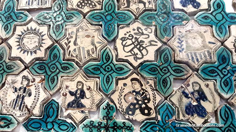 musée Karatay à Konya, Turquie. Abrite le musée des céramiques. De style seljoukide. représentations assez rares de personnages.