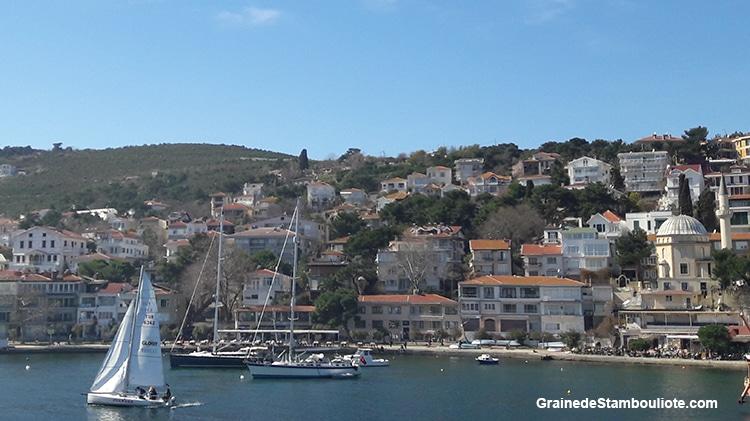 Les îles aux Princes à Istanbul, île de Burgazada, village