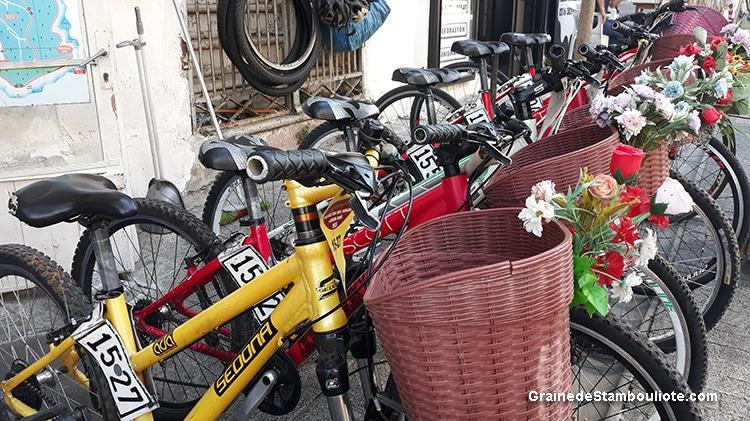 loueur de vélo sur Büyükada, îles aux Princes à Istanbul