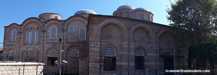 monastère du Pantocrator, façade nord des églises de la Vierge Miséricordieuse et Saint-Michel l'archange, architecture byzantine