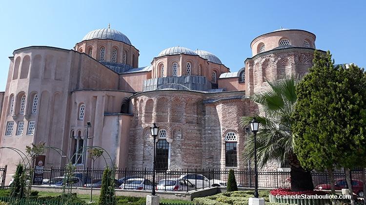 Les 3 églises contiguës du Christ Pantocrator, de Saint-Michel l'archange et de la Vierge miséricordieuse, monastère byzantin du Pantocrator, Constantinople, convertie en mosquée du Molla Zeyrek Istanbul