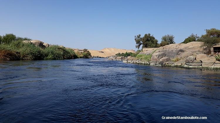 1ère cataracte sur le Nil entre Assouan et le Soudan, Haute Egypte