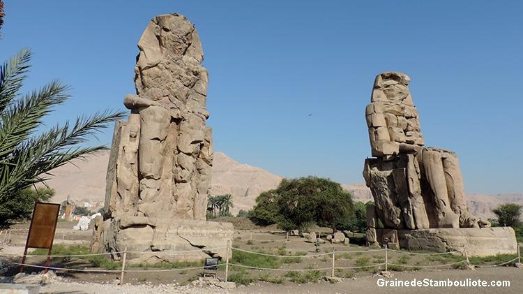colosses de Memnon, Louxor rive ouest, Thebes, Egypte