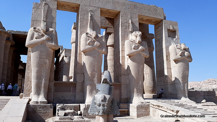 temple des millions d'années de Ramses II, Louxor, Thèbes, Egypte