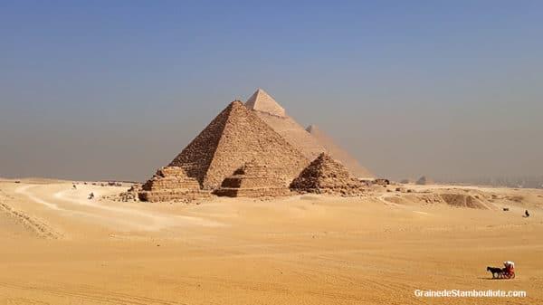 Pyramides de Kheops, Khephren, Mykerinos, du plateau de Guizeh, Le Caire, Egypte