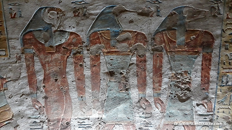 vallée des Reines de Louxor Thèbes, Egypte, tombeau de la reine Tyti