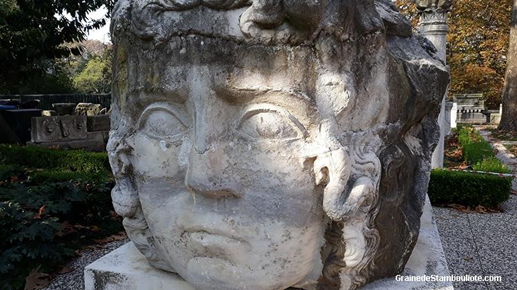 tête de Méduse, musée archéologique d'Istanbul