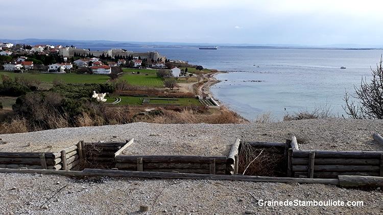 bastion du cap Helles, plage V, Bataille des Dardanelles à Gallipoli face Canakkale, premiere Guerre Mondiale