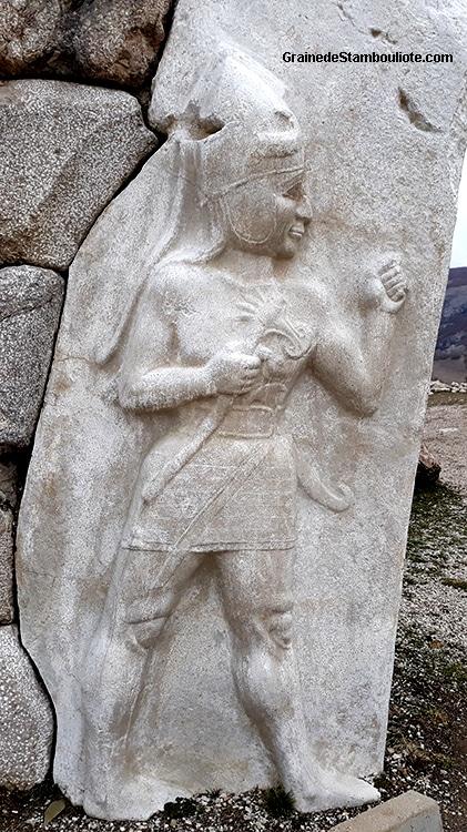 dieu de la guerre, Porte du Roi de Hattusa, capitale Hittite, haut relief