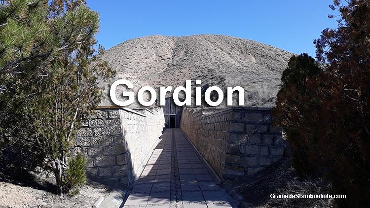 tumulus du tombeau du roi Midas à Gordion, Phrygie, Anatolie