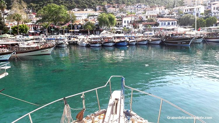 kas, port, Turquie, bateau, plongée éco-responsable, vacances, méditerranée, croisière bleue