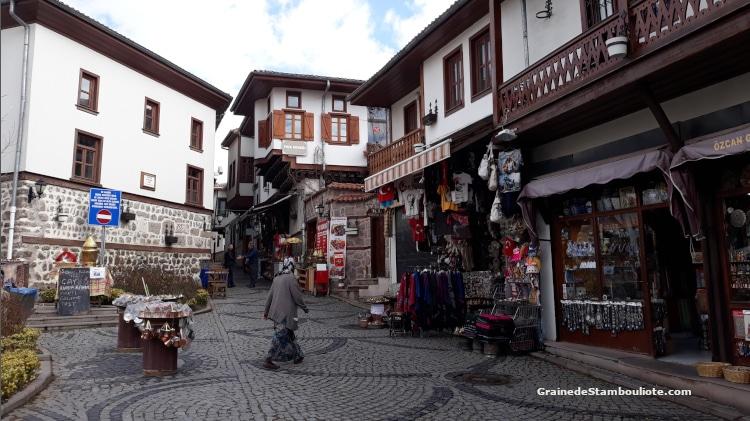 Citadelle d'Ankara, origine byzantine, konak traditionnels, Turquie