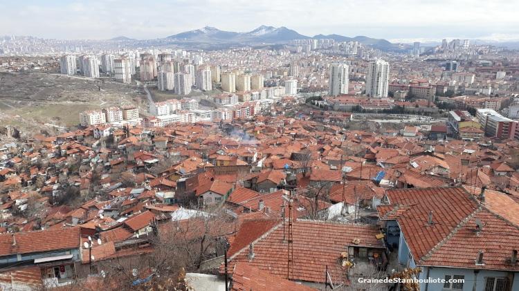 Ankara, panorama depuis les remparts de la citadelle.