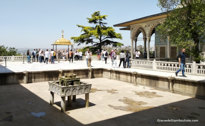 Palais Topkapi, Terrasse, Bassin, Istanbul, Ottoman